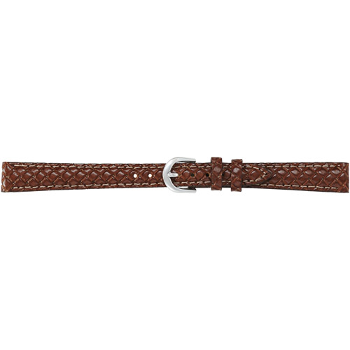 Timex Women's 12mm Woven Genuine-Leather Replacement Watch Band, Brown