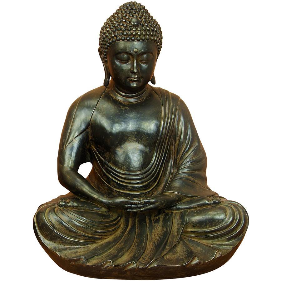Decmode Polystone Buddha, Brown