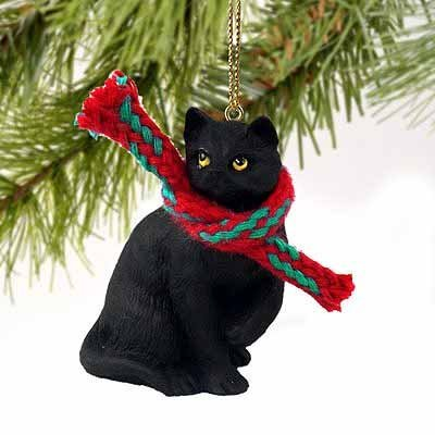 Tiny Mittens Ornament (1 X Tiny Ones Black Cat Ornament w/scarf by, Cute Holiday Ornament By Conversation)