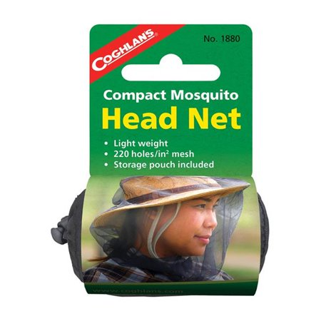 Coghlans 8963167 Black Mosquito Head Net, 43.3 x 19.7 x 7.9 in. - image 1 of 1