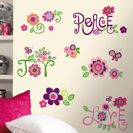 RoomMates Love, Joy, Peace Peel & Stick Wall (Love Peel)