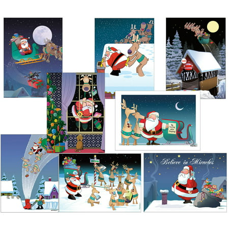 funny christmas card variety pack 24 cards 25 envelopes walmart com