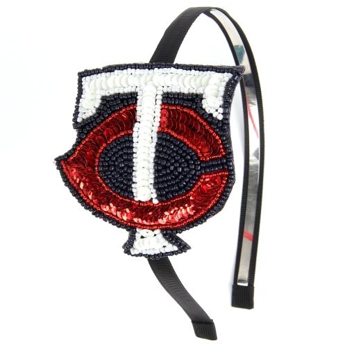 Minnesota Twins Women's Sequin Beaded Horseshoe Headband - No Size