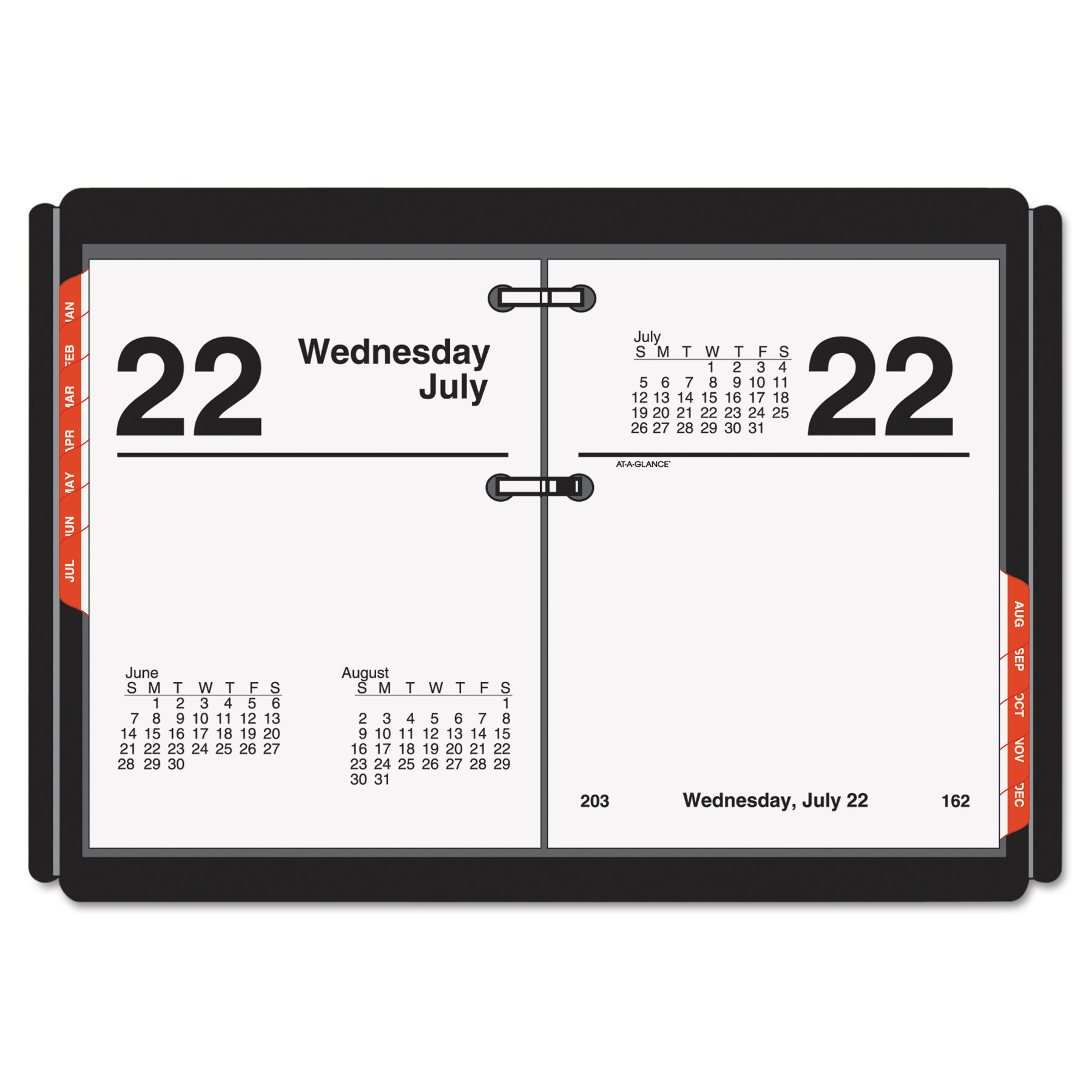 AT-A-GLANCE Compact Desk Calendar Refill, 3 x 3 3 4, White, 2018 by AT-A-GLANCE