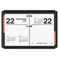 product image at a glance compact desk calendar refill 3 x 3 34