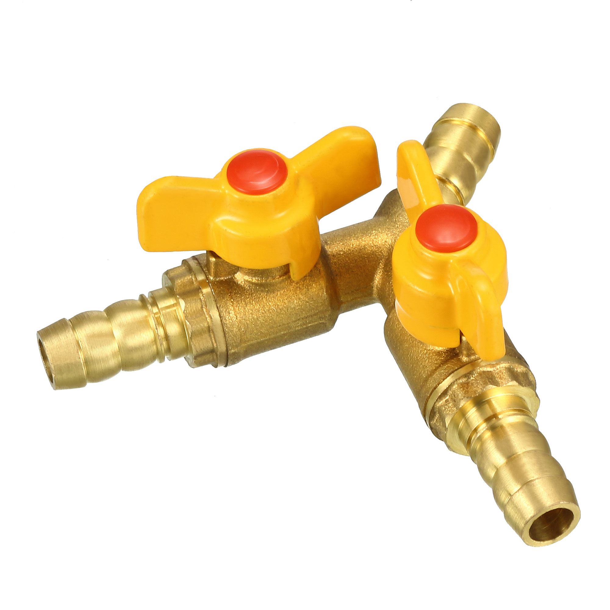 10mm Hose Barb Y Shape 3 Way Brass Shut Off Ball Valve Fitting Connector