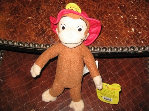 "Curious George with Red Hat 9"" Plush by"