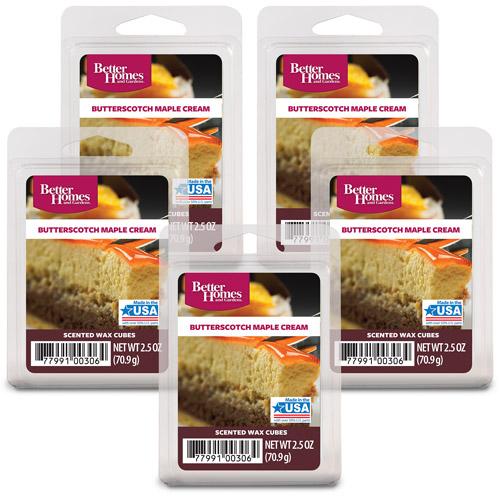 Better Homes and Gardens Wax Cubes Butterscotch Maple 5 Pack