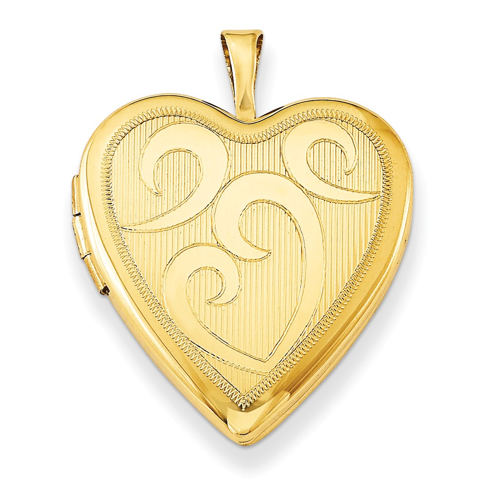 Sterling Silver Gold-Plated 20mm Heart Locket