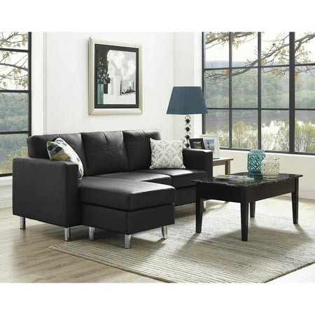 Dorel Living Small Spaces Configurable Sectional Sofa, Multiple Colors ()