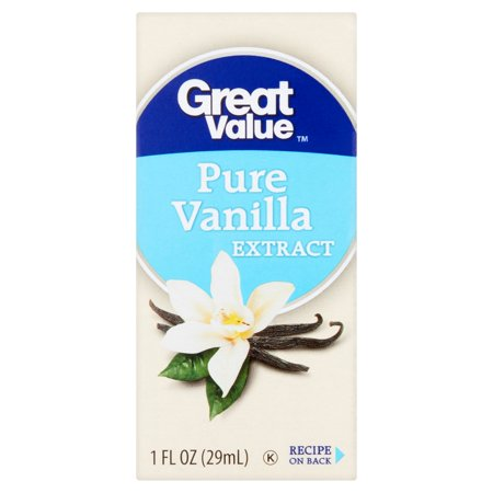 (2 Pack) Great Value Pure Vanilla Extract, 1 fl oz