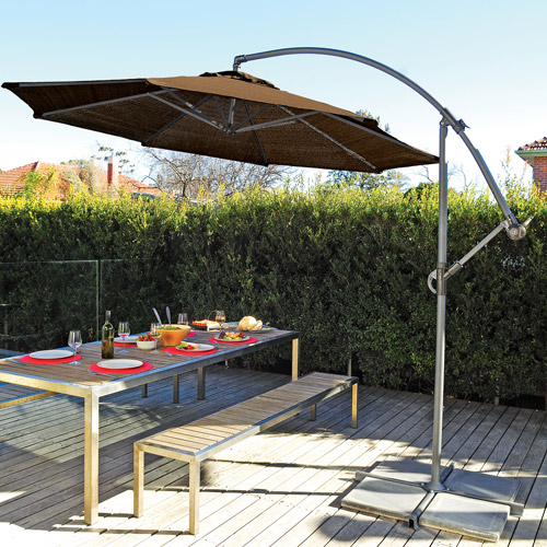 Coolaroo 12' Cantilever Umbrella, Mocha by Gale Pacific USA Inc