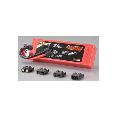 1554 20C 7.4V 4000mAh 2S LiPo Plug System Multi-Colored