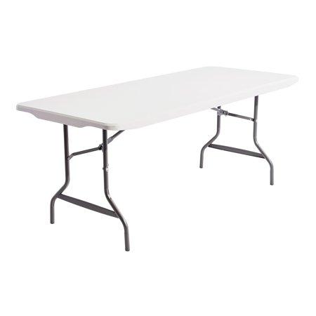 Alera Resin Rectangular Folding Table, Square Edge, 72w x 30d x 29h, Platinum -ALE65600 ()