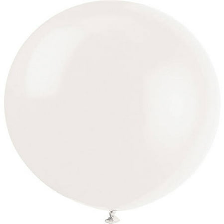 Latex Round Giant Balloons, 36 in, Linen White, 6ct - White Balloons With Glow Sticks