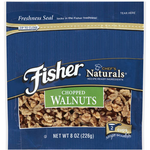 Fisher Chef's Naturals Chopped Walnuts, 8 oz