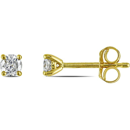 1/4 Carat T.W. Diamond 14kt Yellow Gold Solitaire Stud Earrings
