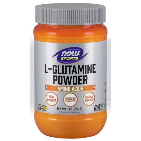 NOW Sports Nutrition, L-Glutamine Powder, 1-Pound (Best L Glutamine For Sugar Cravings)
