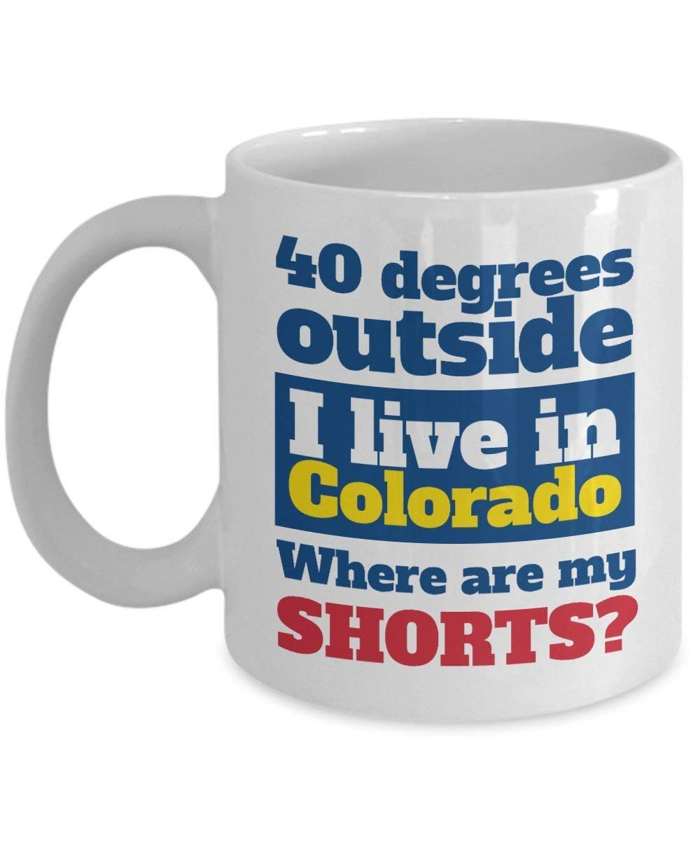 I Live In Colorado. Where Are My Shorts? Coffee & Tea Gift