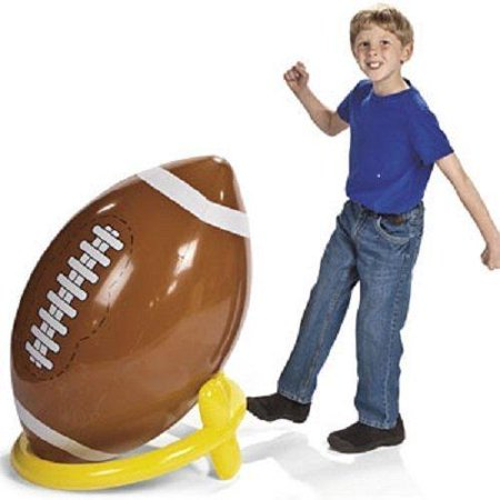 Jumbo Giant Inflatable 4ft Football With Tee by Fun - Giant Football