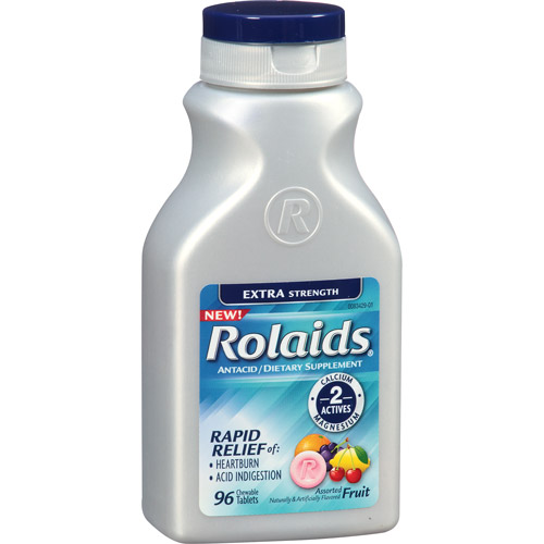 Rolaids Extra Strength Antacid Fruit Chewable Tablets, 96ct