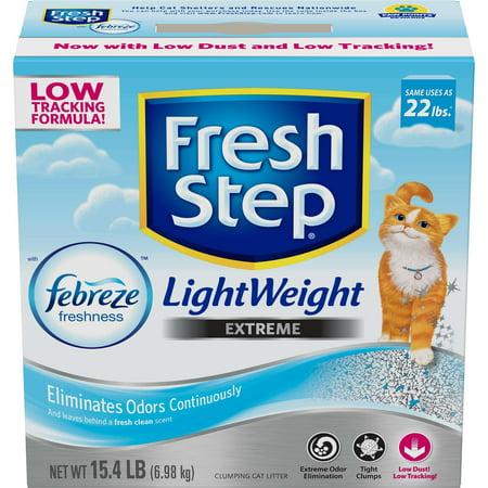 Fresh Step Lightweight Extreme With Febreze Freshness Clumping Cat Litter  15 4 Lb