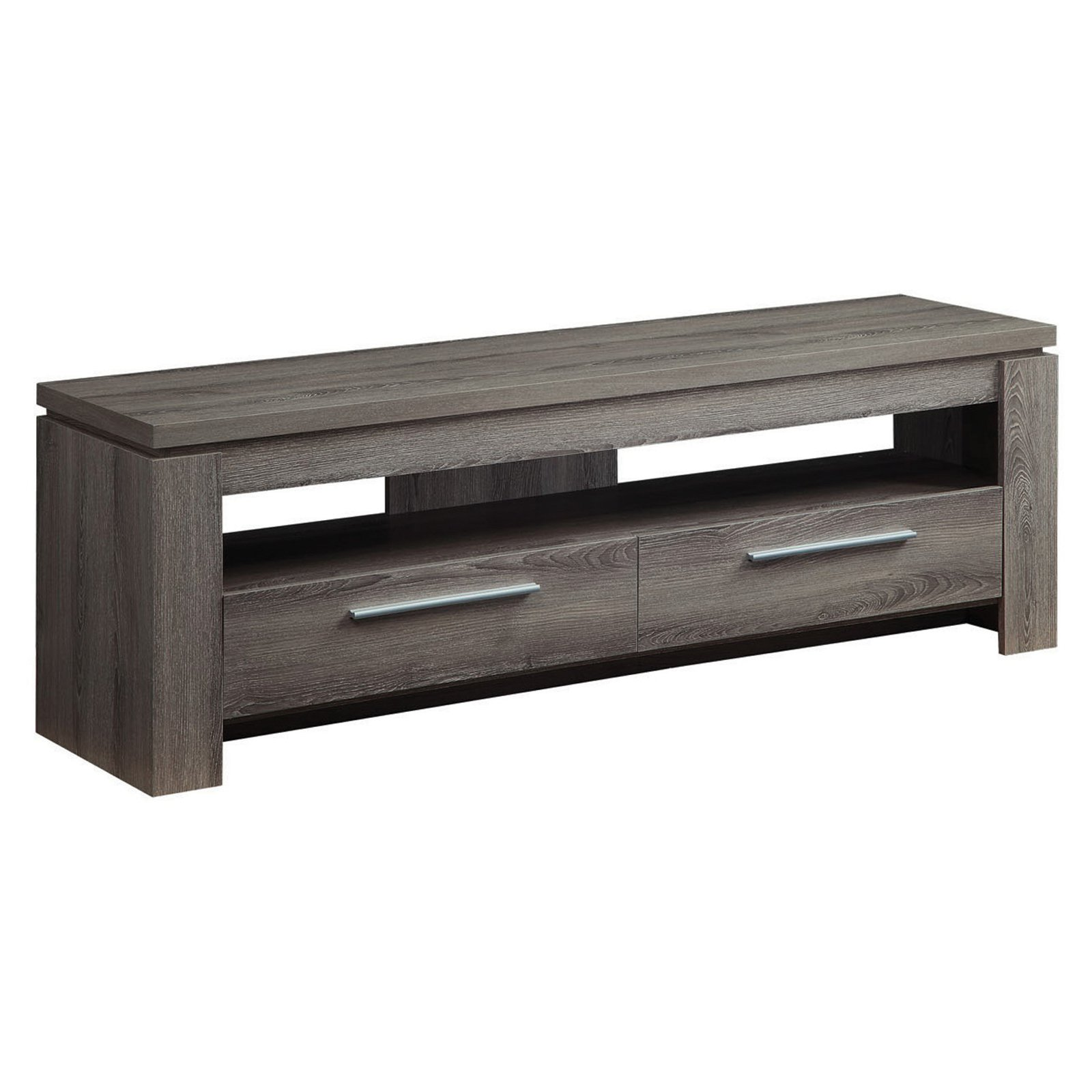 """Coaster Weathered Grey TV Console for TVs up to 46"""""""