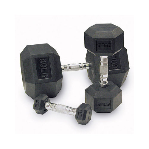Body Solid Rubber Coated Hex Dumbbells