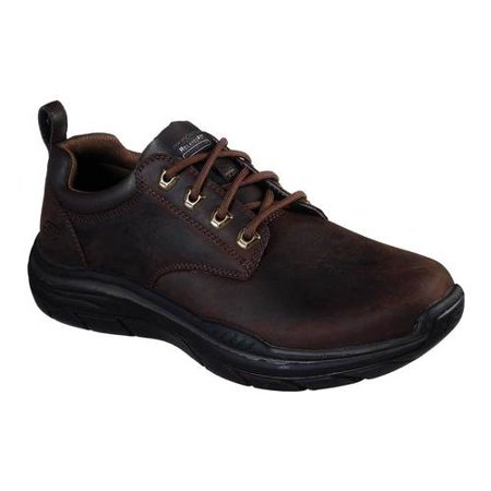 Skechers Brown Oxford - Men's Skechers Relaxed Fit Expected 2.0 Harlo Oxford