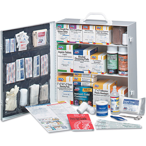 First Aid Only First Aid Station & Metal Case, 1041 pc