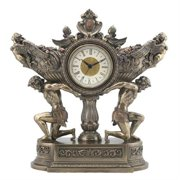 Veronese Design WU76007A4 Strong Men Carrying Vessel of Harvest Clock