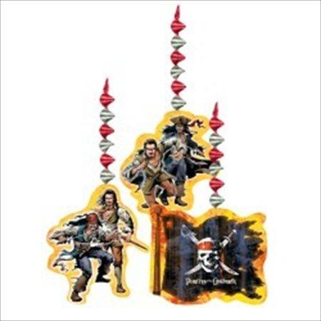 Pirates of the Caribbean Hanging Swirl Decoration (3ct) (Pirate Decoration Ideas)