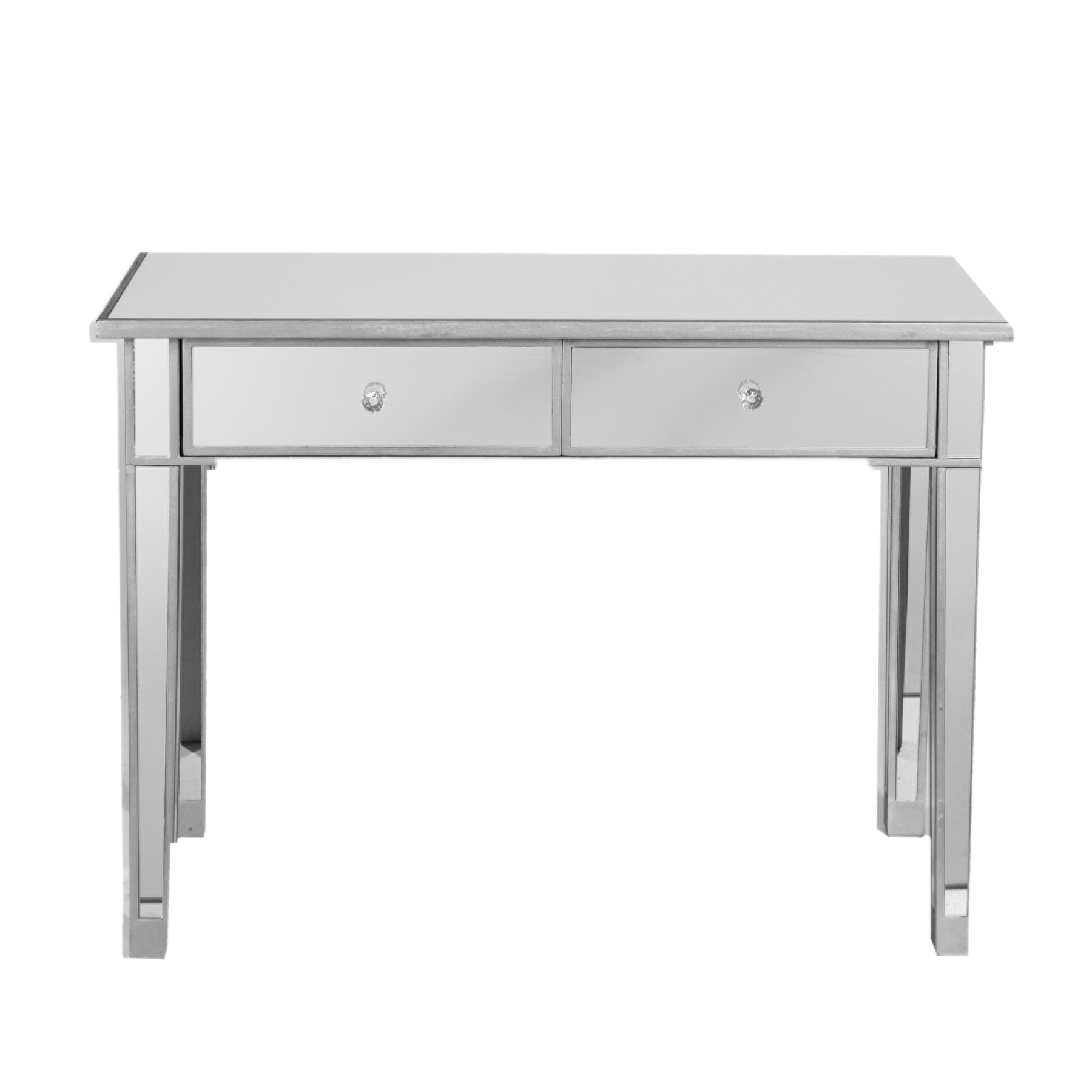 Southern Enterprises Illusions Collection Mirrored Console Table/Desk