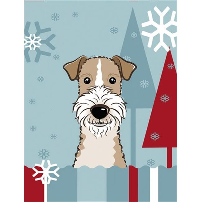 Carolines Treasures BB1743GF Winter Holiday Wire Haired Fox Terrier ...