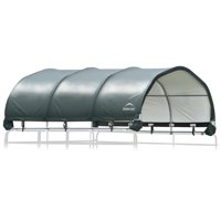 ShelterLogic Corral Horse Shelter, Green, 12 x 12 ft, Animal Shelter