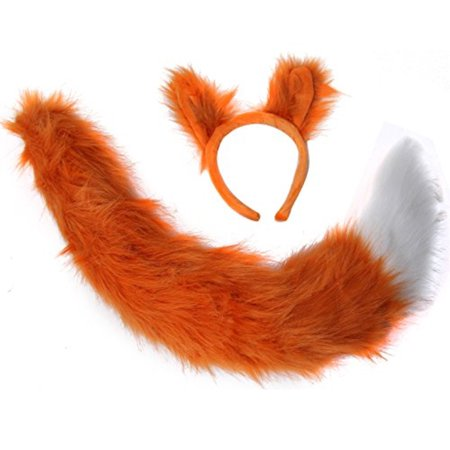 Oversized Fox Ears and Tail Costume Set - Fox Tail Costume Accessories