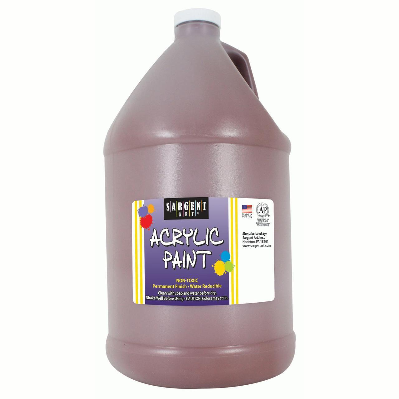Sargent Art® Acrylic Paint, Brown, 64 oz. Bottle (Half Gallon)