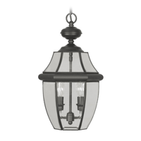 Outdoor Pendants 2 Light With Clear Beveled Glass Black size 11 in 120 Watts - World of Crystal