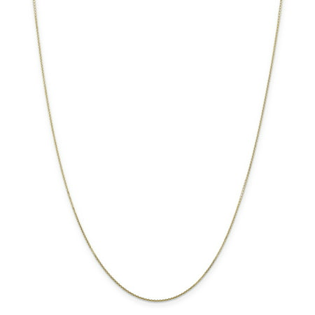 Yellow Gold Diamond Cable - 14K Yellow Gold .80mm Diamond Cut Cable Chain Necklace Size 22