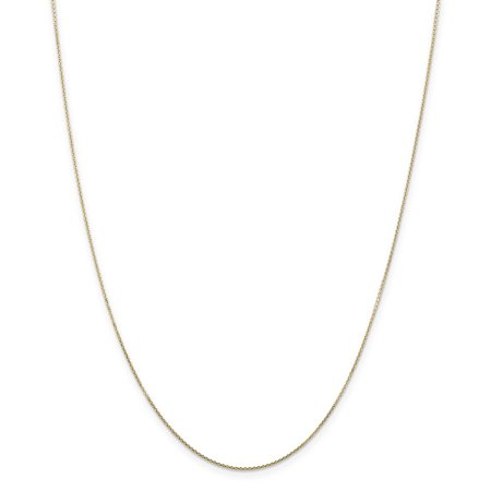 Yellow Gold Diamond Cable - 14K Yellow Gold .80mm Diamond Cut Cable Chain Necklace Size 30
