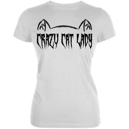 Halloween Crazy Cat Lady Juniors Soft T Shirt](Crazy Halloween Photos)