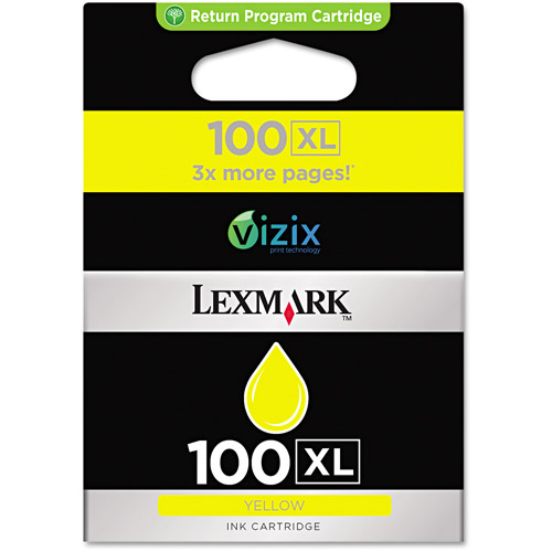 Lexmark #100XL Yellow High Yield Cartridge