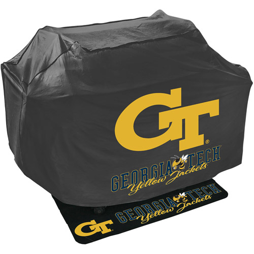 Mr. Bar-B-Q NCAA Grill Cover and Grill Mat Set, Georgia Tech University Yellow Jackets
