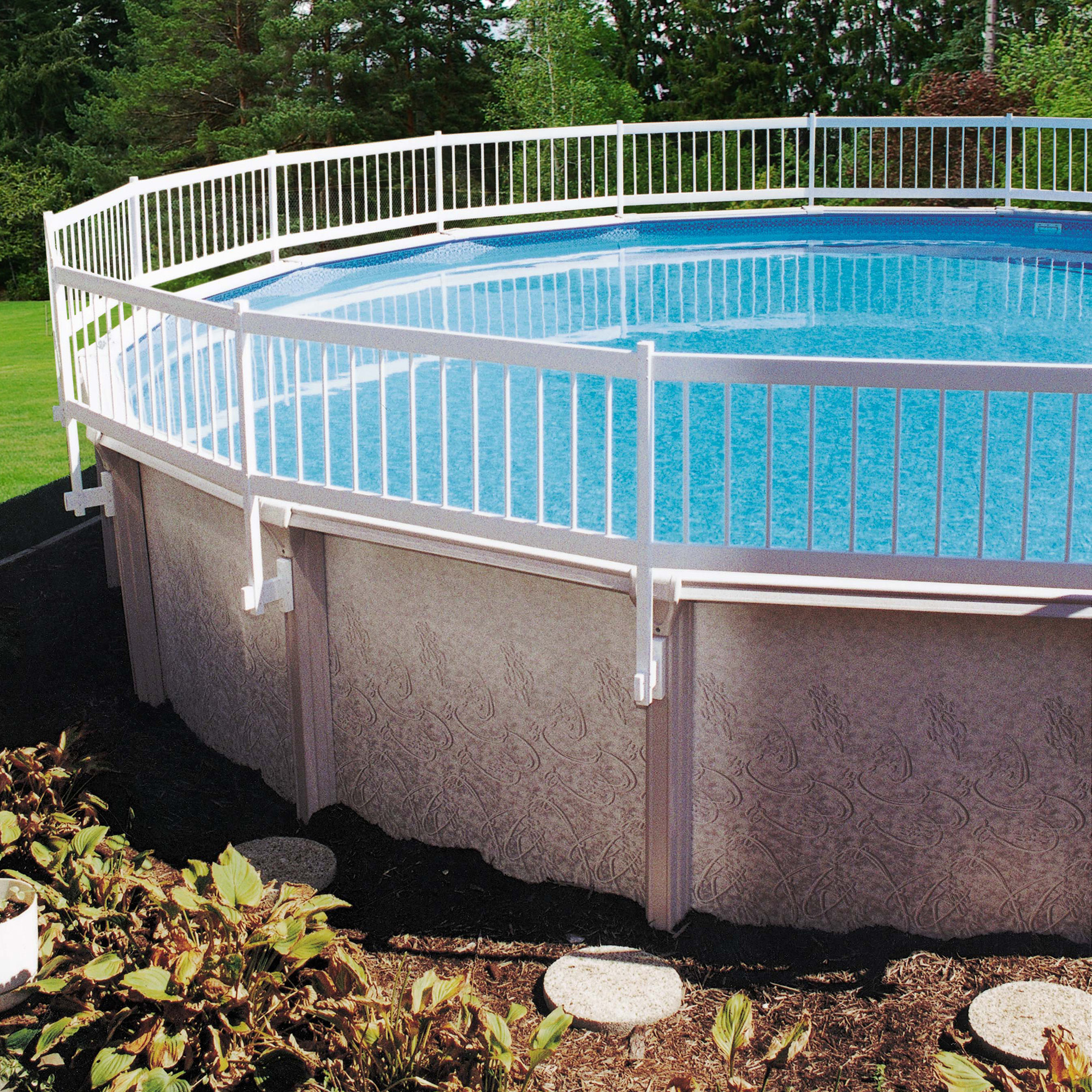 GLI Above Ground Pool Fence Kit - White - Walmart.com