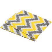 Bacati - MixNMatch Zigzag Crib/Toddler Bed Fitted Sheets 100% Cotton Percale, Yellow/Grey, 2-Pack