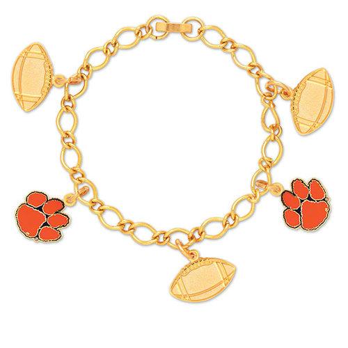 NCAA - Clemson Tigers 5 Charm Bracelet