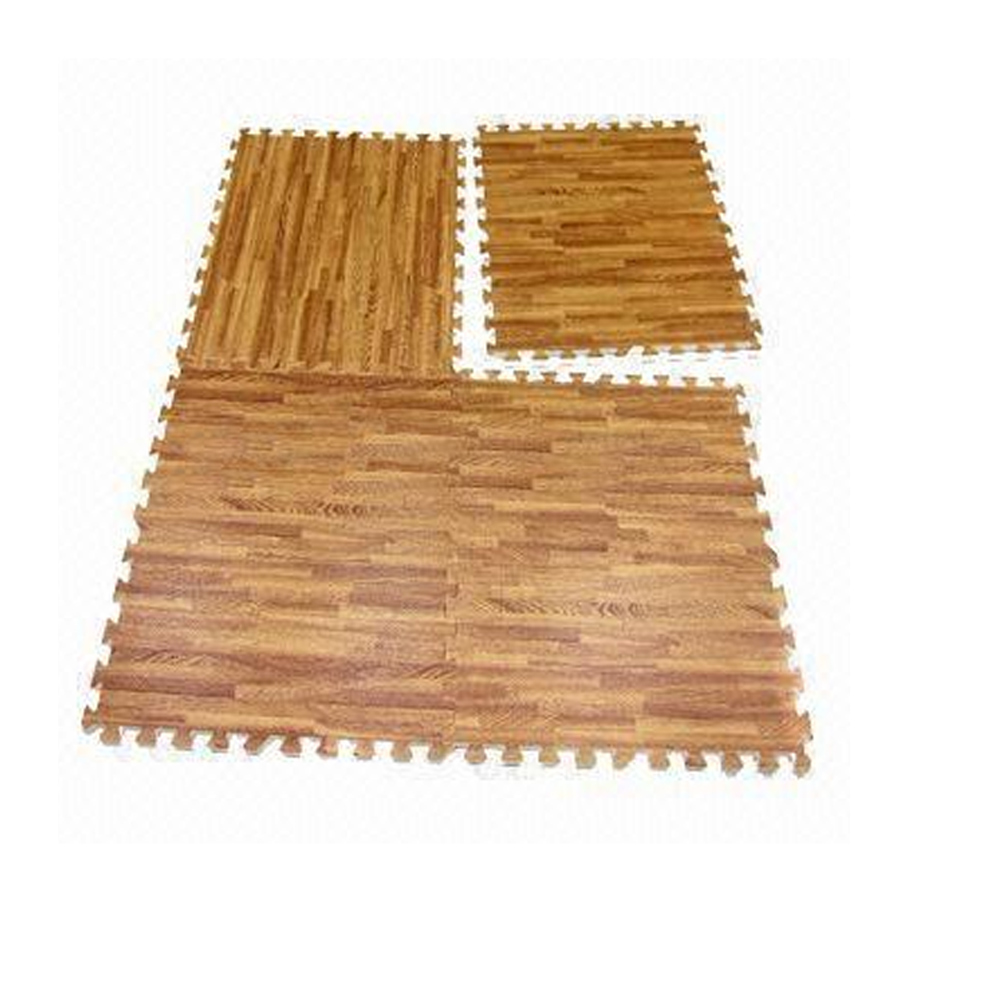 96 sq ft eva interlocking mats foam floor wood grain exercise gym playground mat walmartcom - Puzzle Wood Flooring