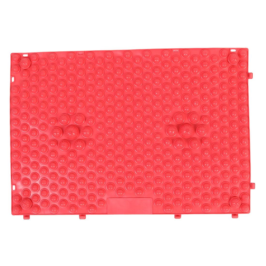 Unique Bargains Outdoor Leisure Game Rubber Acupuncture Foot Massage Mat Shiatsu Sheet Red