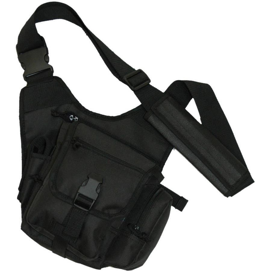 Bob Allen BAT200 Single Tactical Shoulder Bag, Black
