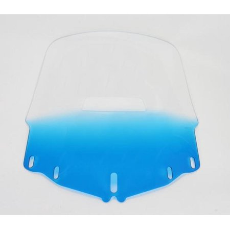 Memphis Shades MEP4886 Gold Wing Windshield - Tall with Vent Hole - Gradient Blue ()
